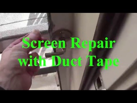 DIY - How to repair a screen window coming out the spine