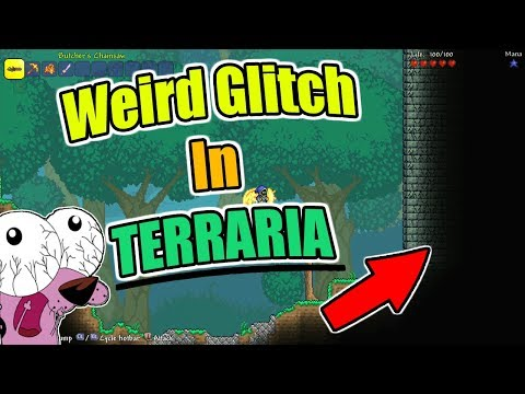 This GLITCH Is Weird On TERRARIA XBOX ONE EDITION!! ( I Have Never Seen This Before )