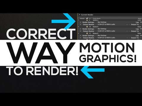 After Effects Tutorial : Render Settings Properly Explained │ Motion Graphics Rendering!
