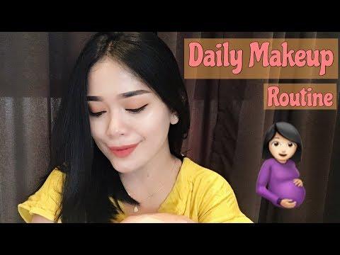 DAILY MAKEUP ROUTINE DURING PREGNANCY / make up simple untuk ibu hamil dan remaja (INDONESIA)