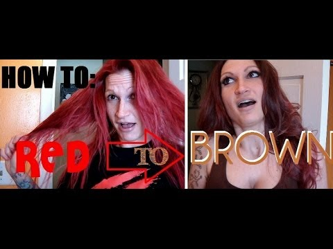 Going from RED to BROWN Hair - DAMAGE FREE!