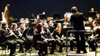 Banda del Conservatorio Superior de Badajoz. Auditorio: Palacio de Congresos de Badajoz.  Director: Juanjo Hernández.