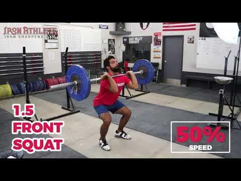 1.5 front squat