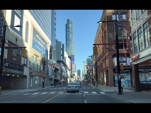 Driving Downtown Toronto - Yonge street Northbound