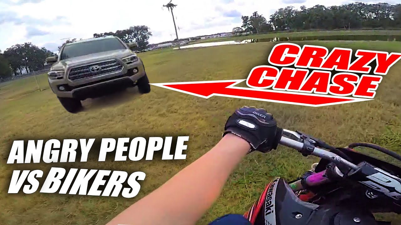 Stupid, Angry People Vs Dirt Bikers 2020 - Angry Man Chases Motorcycle!