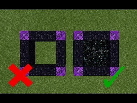 How To Make a Portal to the Wither Storm Dimension in MCPE (Minecraft PE)
