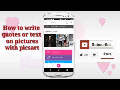 How to write quotes or text on pictures (picsart)