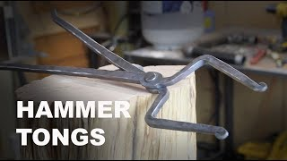 Forging Brian Brazeal style Hammer Tongs
