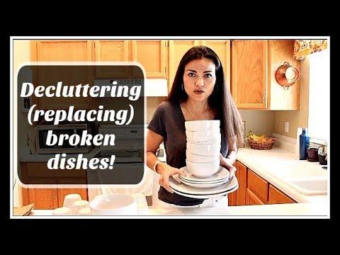 Declutter: Chipped dinnerware must go!