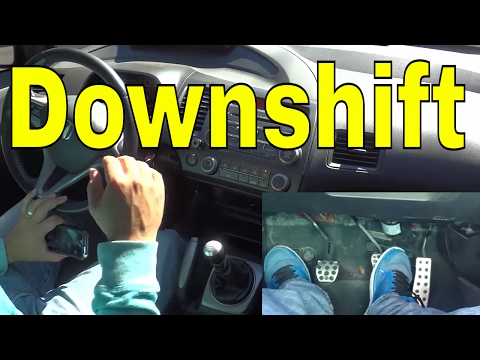 How To Downshift Without The Clutch-Driving Manual (Tutorial)