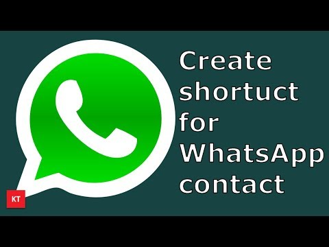 How to create a shortcut for WhatsApp contact on the home screen of android device