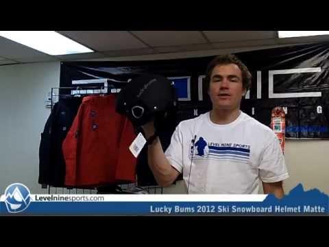 Lucky Bums 2012 Ski Snowboard Helmet Matte