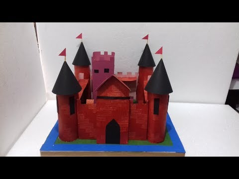 ✔Castle model |  Castle with paper |  cardboard castle making ideas