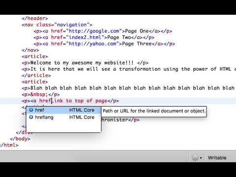 Link with a Document Using HTML