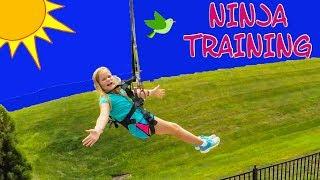 ASSISTANT Ninja Training Ropes Course and Zip Line TheEngineeringFamily Funny Ninja Training Video