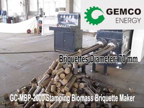 Double-end wood briquettes machine is hitting the market now!