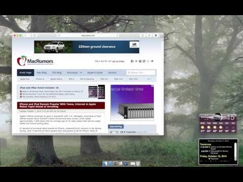 Auto Hide Mac OSX Menu Bar - Yosemite