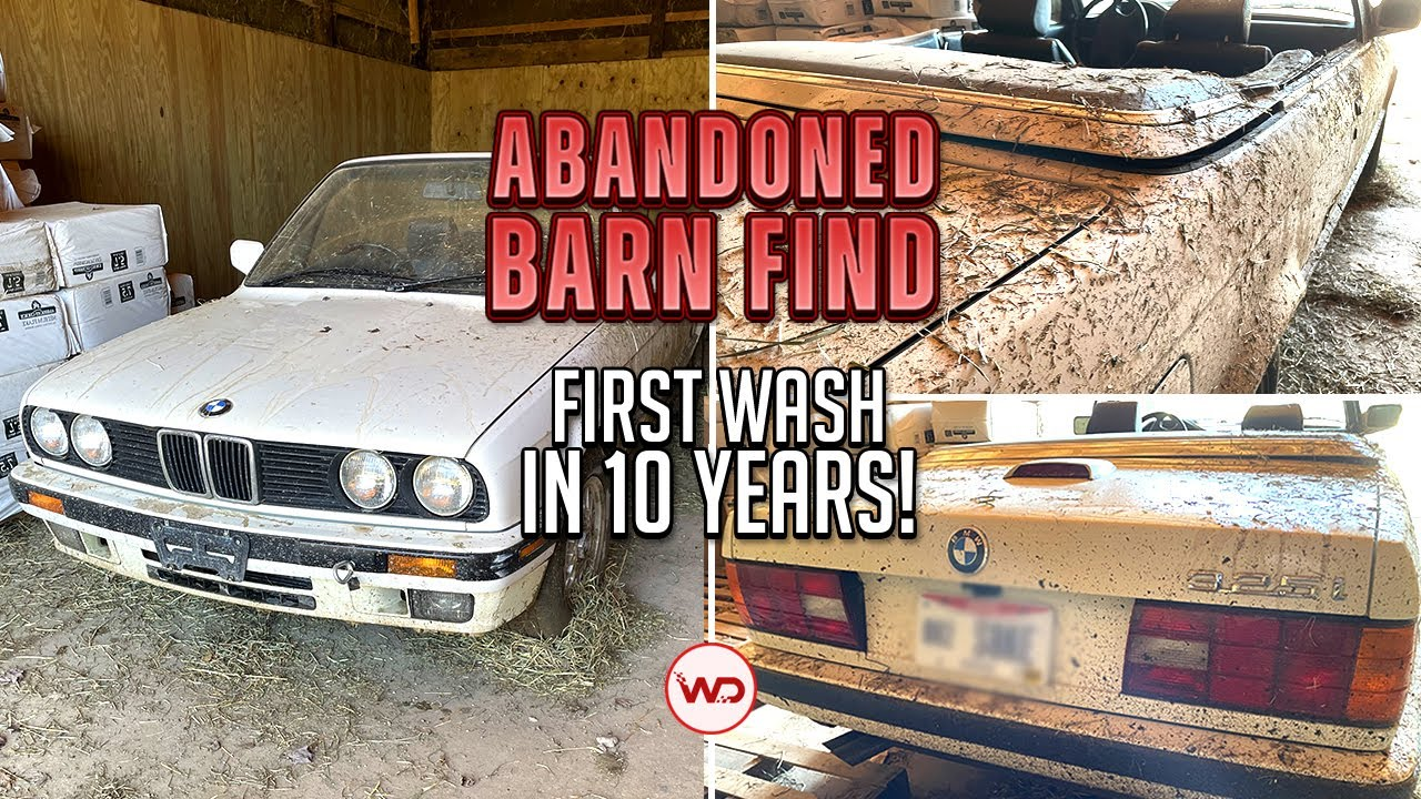 ABANDONED BARN FIND First Wash In 10 Years BMW E30! Satisfying Car Detailing Restoration