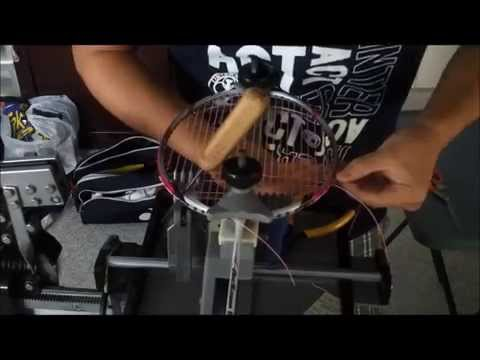 Fast Badminton Stringing Job on Tension Crank