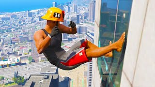 GTA 5 Jumping off Highest Buildings  #15 - Funny Moments & Fails