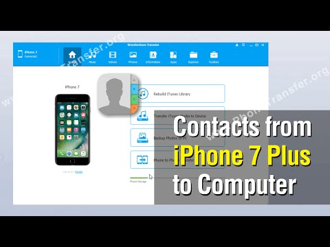 How to Backup Contacts from iPhone 7 Plus to Computer