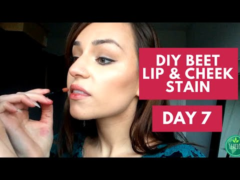 DIY Beet Lip and Cheek Stain, Vlog Day 7