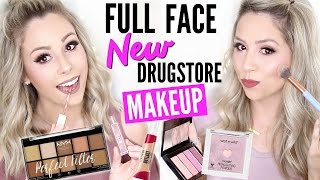 FULL FACE Trying NEW Drugstore Makeup | First Impressions