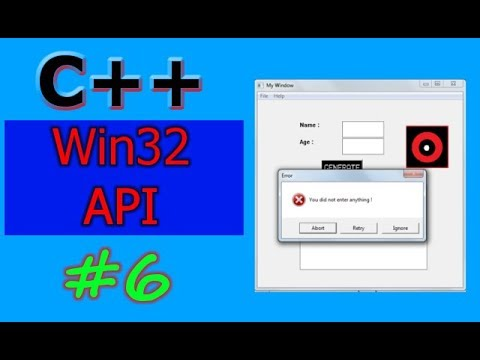 Windows GUI Programming with C/C++ ( Win32 API ) | Part -6 | The Message Box Dialog
