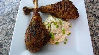Oven Roasted Turkey Legs! Easy Thanksgiving Dinner