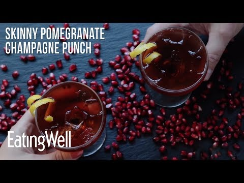 How to Make Skinny Pomegranate Champagne Punch