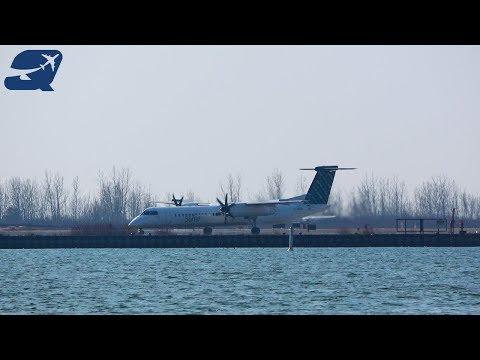 (4K) 10 Minutes of Plane Spotting - Toronto City Airport (YTZ)