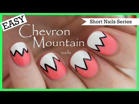 Easy Chevron Mountains | Nail Art for Short Nails #2