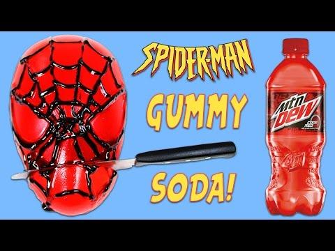 How to Make Marvel Spiderman Gummy Soda!