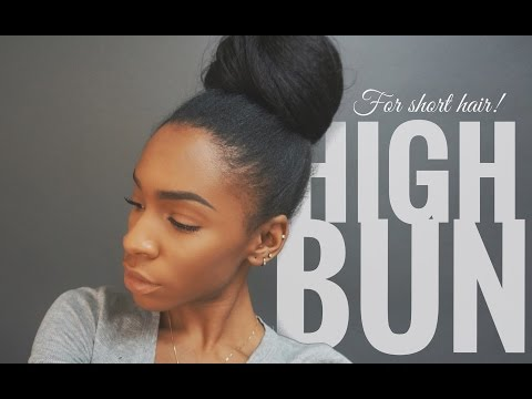 High Bun Tutorial for Short Hair with Extensions ▸ VICKYLOGAN