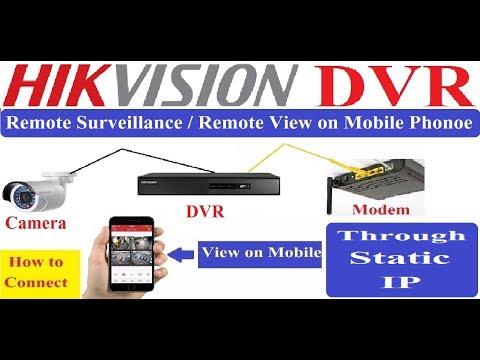 Hikvision DVR  Remote View Though Static IP! Hikvision DVR Remote Surveillance