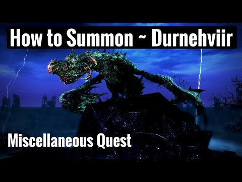 How to Summon DURNEHVIIR & Soul Tear Shout - Skyrim Remastered