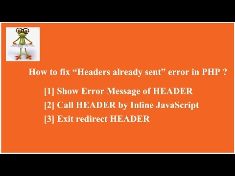"[SOLVED] How to fix ""Headers already sent"" error in PHP"