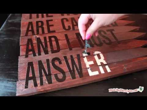 Make a Rustic Wood Sign