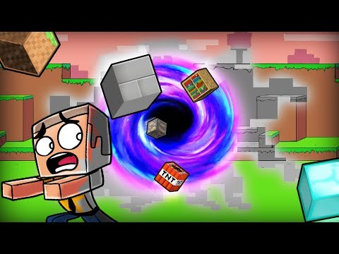 Minecraft | BLACK HOLE DESTROYS THE WORLD! (Living in The Void)