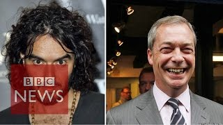 Russell Brand & Nigel Farage clash over immigration on Question Time (11/12/2014)