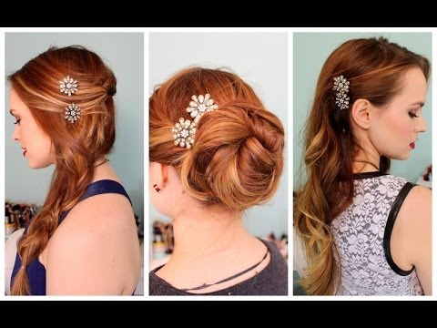 3 Quick Hairstyles for Sparkly Hair Accessories!