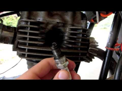 Checking spark plug and electricals