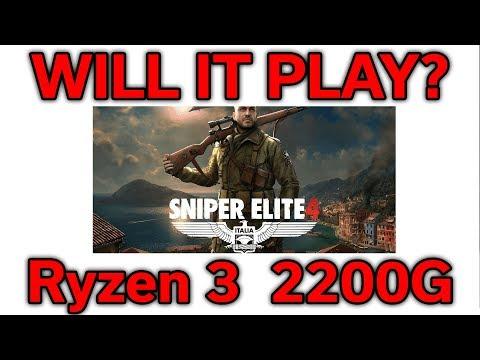 Will it Play? - Sniper Elite 4 - Ryzen 3 2200G - VEGA 8 - Benchmark