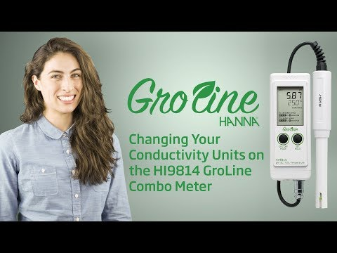 Video: How To - Changing The Conductivity Units On Your HI9814 GroLine Combo Meter