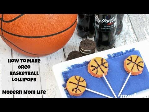 How to make OREO Basketball Lollipops