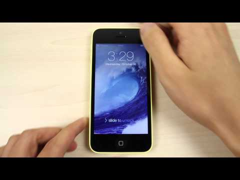 How to change the home screen and lock screen wallpaper on Apple iPhone 5C