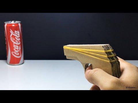 How to make Cardboard Gun That Shoots | Rubber Band Gun