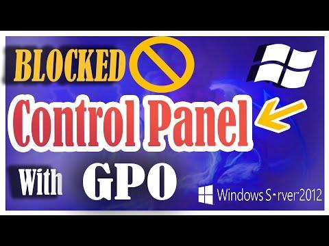 How to block Control Panel in Windows 7 via GPO  - Windows Server 2012 R2