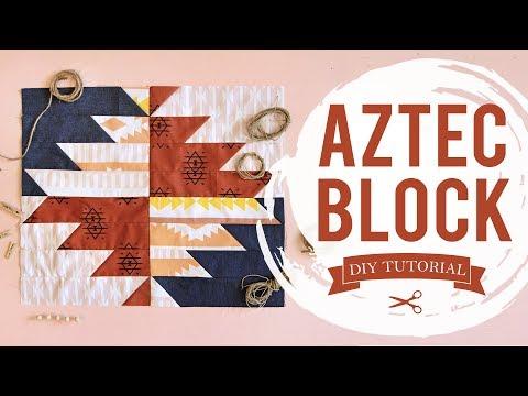Simple Quilt Block Pattern - Aztec Quilt Block