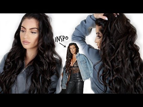 WET WAVES TUTORIAL♡ KOURTNEY KARDASHIAN INSPIRED HAIR